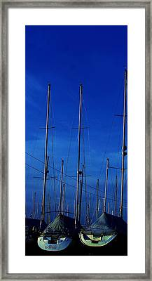 Two Boats In A Pod Framed Print by Rosemarie E Seppala