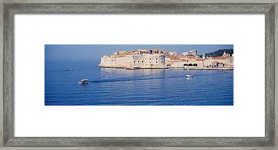 Two Boats In The Sea, Dubrovnik, Croatia Framed Print by Panoramic Images