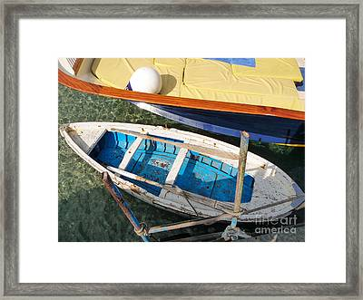 Framed Print featuring the photograph Two Boats by Mike Ste Marie