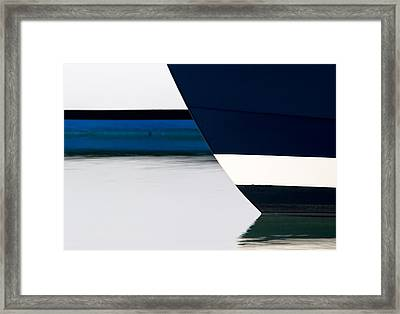 Two Boats Moored Framed Print by CJ Middendorf