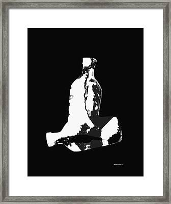 Two Bottles In Digital Art Framed Print by Mario Perez