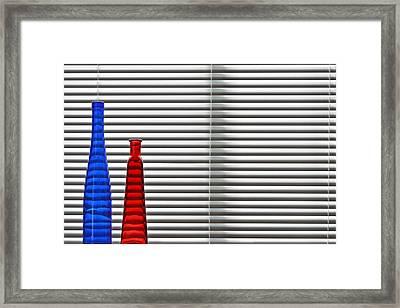 Two Bottles Framed Print by Jitka and Richard Unverdorben