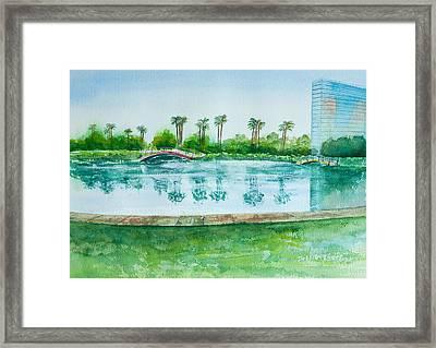 Two Bridges At Rainbow Lagoon Framed Print by Debbie Lewis