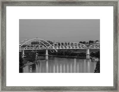 Two Bridges Framed Print by Robert Hebert