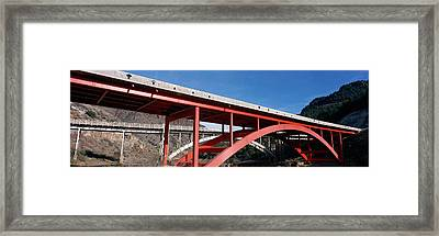 Two Bridges San Carlos Indian Framed Print by Panoramic Images