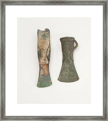 Two Bronze Age Axes Showing Development Framed Print by Paul D Stewart