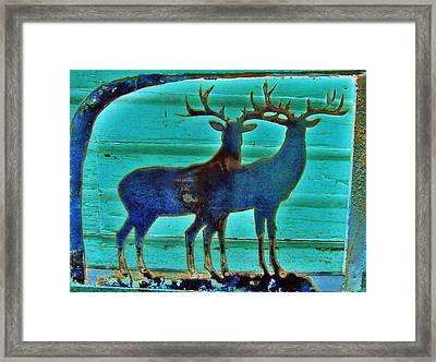 Two Bucks Framed Print by Larry Campbell