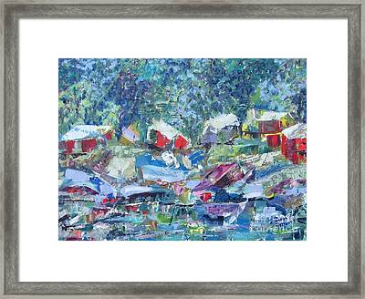 Two Canoes - Sold Framed Print by Judith Espinoza