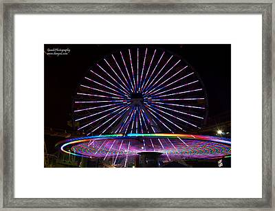Two Carousels  Framed Print by Gandz Photography