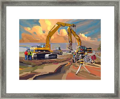 Two Caterpillars Framed Print