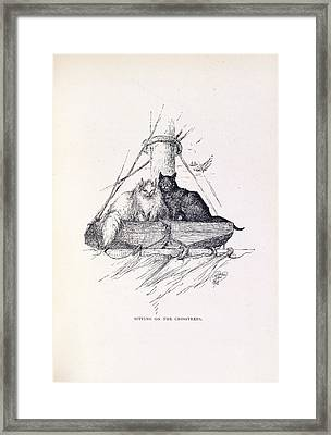 Two Cats Framed Print by British Library
