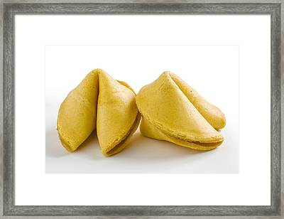 two Chinese fortune cookies Framed Print