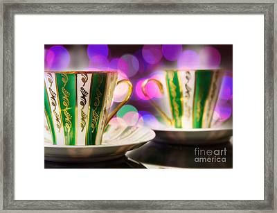 Two Coffee Cups Framed Print