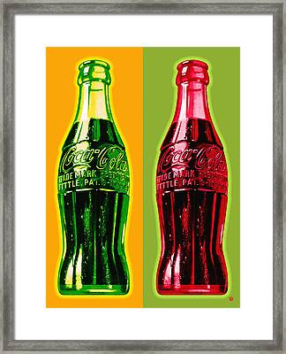 Two Coke Bottles Framed Print