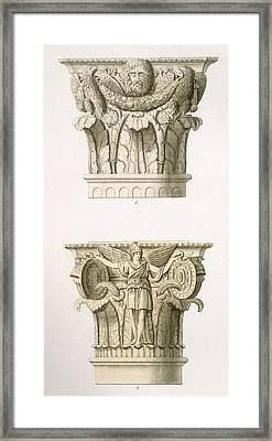 Two Column Capitals Framed Print by English School