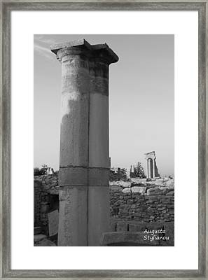 Two Columns At Apollo Sanctuary Framed Print by Augusta Stylianou