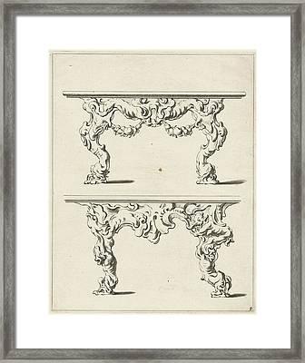 Two Console Tables Framed Print by Pieter Hendricksz. Schut And Gerbrand Van Den Eeckhout And Nicolaes Visscher (i)
