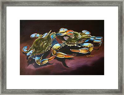 Two Crabs Framed Print