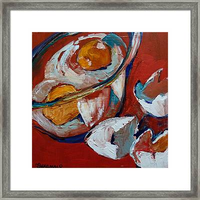 Two Cracked Eggs Framed Print by Suzanne Willis