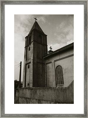 Framed Print featuring the photograph Two Crosses by Amarildo Correa