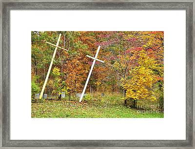 Two Crosses Framed Print by Thomas R Fletcher