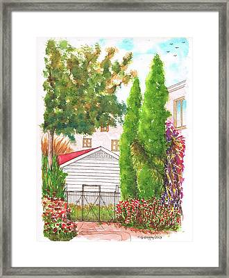 Two Cypresses In Hollywood - California Framed Print