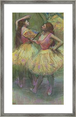 Two Dancers Before Going On Stage Framed Print