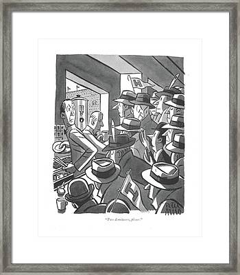 Two Demitasses Framed Print by Peter Arno