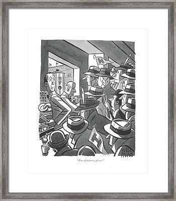 Two Demitasses Framed Print