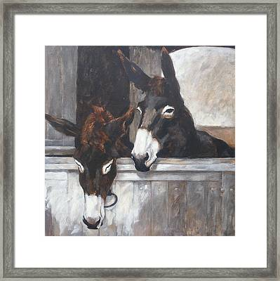 Two Donkeys Framed Print by Anke Classen