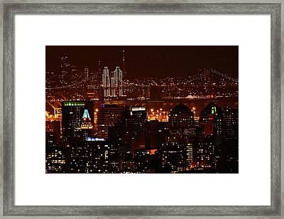 Two Downtowns Framed Print