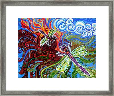 Two Dragonflies Framed Print by Genevieve Esson