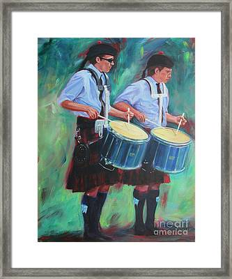 Two Drummers Framed Print