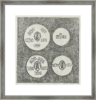 Two Emergency Coins Beaten During The Siege Of Schoonhoven Framed Print by Eberhard Cornelis Rahms