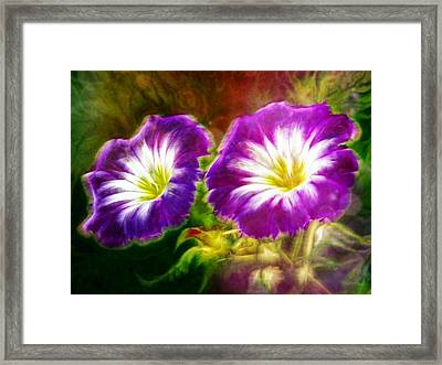 Two Eyes Of Heaven Framed Print by Lilia D