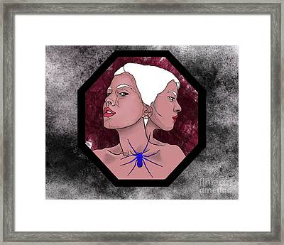 Two-faced Framed Print by Mona Moeller