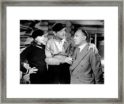 Two-faced Women, From Left Greta Garbo Framed Print by Everett