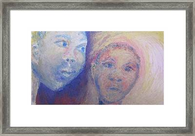 Two Faces Framed Print by Cherie Sexsmith
