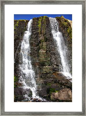 Two Falls Framed Print by Garry Gay