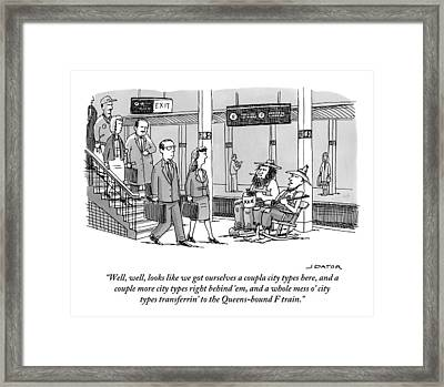 Two Farmers Sit In Rocking Chairs At The 42nd Framed Print