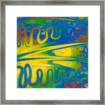 Two Fauvist Snakes Framed Print by Constance Krejci