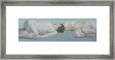 Two Figures Lying Framed Print