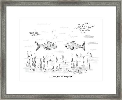 Two Fish Speak Underwater Framed Print by Avi Steinberg