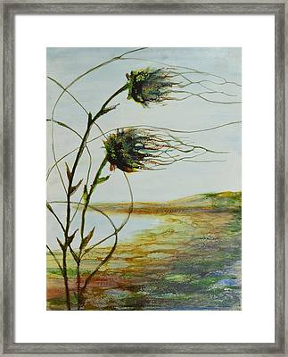 Two Flowers By The Bay Framed Print