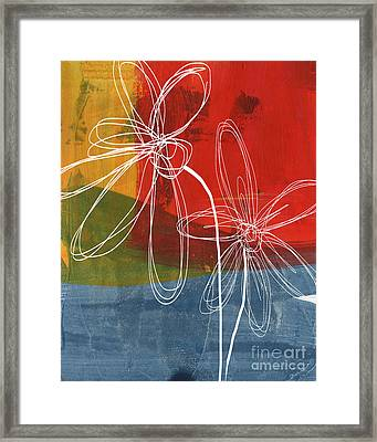 Two Flowers Framed Print by Linda Woods