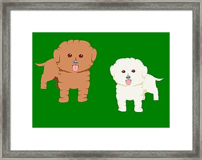 Two Fluffy Pet Dogs Framed Print