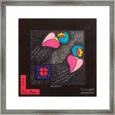 Two Fly Away Framed Print by Blanch Paulin