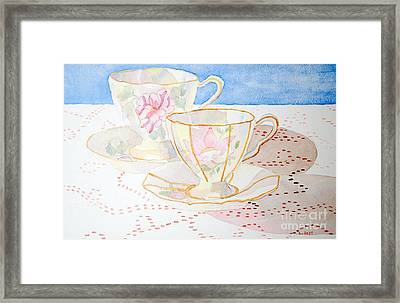Two For Tea Framed Print