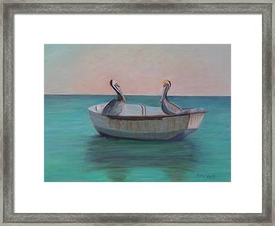 Two Friends In A Dinghy Framed Print