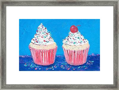 Two Frosted Cupcakes Framed Print by Jan Matson